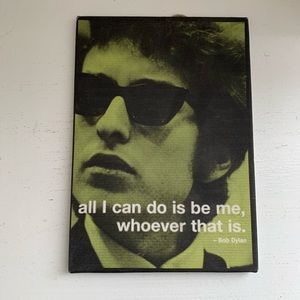 Other - Bob Dylan Canvas Frame Stapled To Board